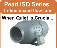 New Pearl Series In-line Mixed Flow Fans