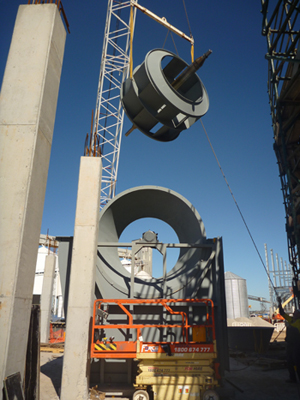 Heavy Duty Industrial Fan Installation